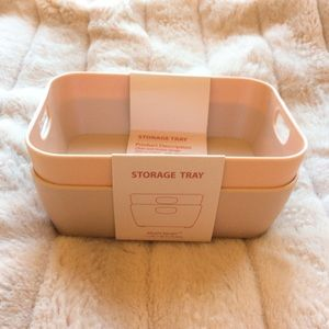 2 Pink small storage tray